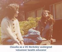 Claudia as undergrad volunteer