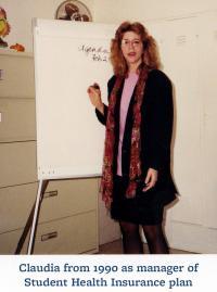 Claudia in 1990